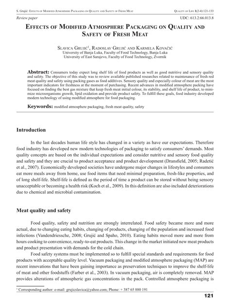 Modified Atmosphere Packaging Quality by Pdf Effects Of Modified Atmosphere Packaging On Quality