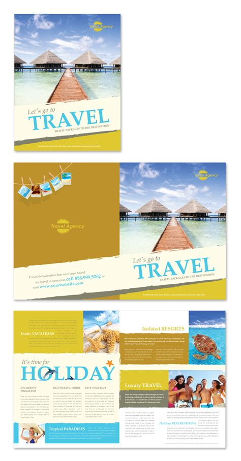 Travel Brochures Templates by Travel Agency Brochure Template Dlayouts Graphic Design