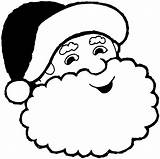 Santa Face Coloring Beard Claus Clip Clipart Popular sketch template