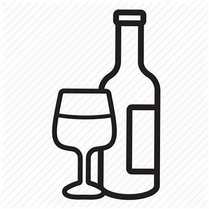 Bottle Drawing Alcohol Wine Liquor Icon Transparent