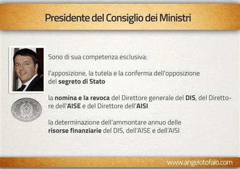 vice presidente consiglio dei ministri servizi segreti la mappa potere governo renzi