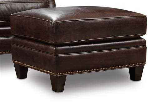 Brown Leather Ottoman by Bradshaw Brown Leather Ottoman From Coleman Furniture