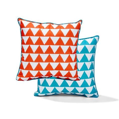 kmart outdoor cushions australia outdoor chair cushion orange blue triangles kmart
