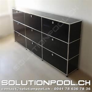 Usm Second Hand : usm highboard schwarz solutionpool first class second hand for home and office ~ Sanjose-hotels-ca.com Haus und Dekorationen