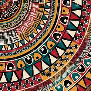 Round tribal ethnic ornament - patchwork pattern Royalty ...