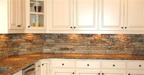 Stacked Stone Panels For Backsplash : I Love This Back Splash And It Would Match The Fireplace