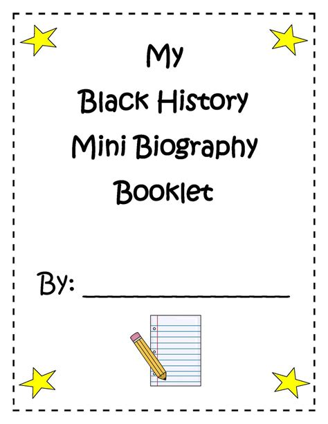 Engaging Lessons And Activities Black History Mini Biography Booklet Activity