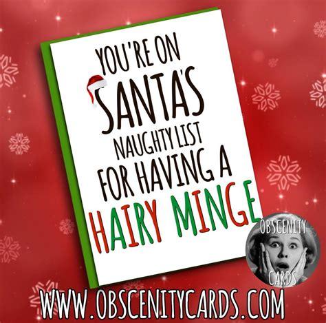 youre  santas naughty list    hairy minge card