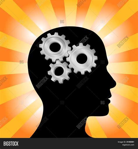 foto de Gear Head Man Profile Thinking On Vector & Photo Bigstock