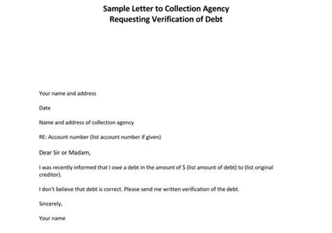 debt validation letter sample  letterbuiscom