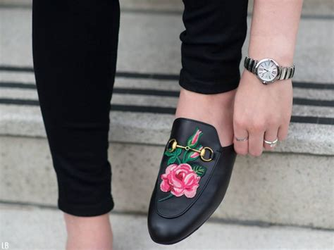 Black & White Plaid With Gucci Embroidered Loafers