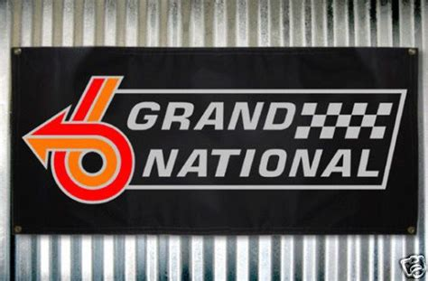Buick Grand National Logo by Buick Grand National Emblem Banner Sign 18x36 By