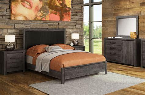 driftwood  piece queen bedroom set rustic brown leons