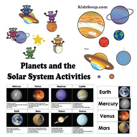 aliens and robots activities and crafts kidssoup 458 | planet solar system activities 0