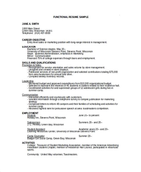 Resume Objectives Sles by Sle Objective For Resume 10 Exles In Word Pdf