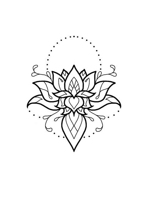 lotus mandala tattoo design pinterest