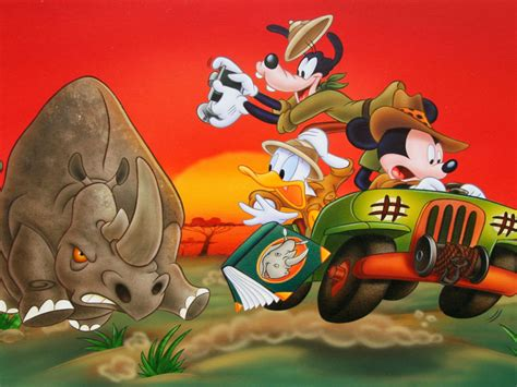 mickey maus goofy  donald duck safari  africa theme