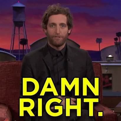 Damn Right Thomas Middleditch Giphy Straight Gifs
