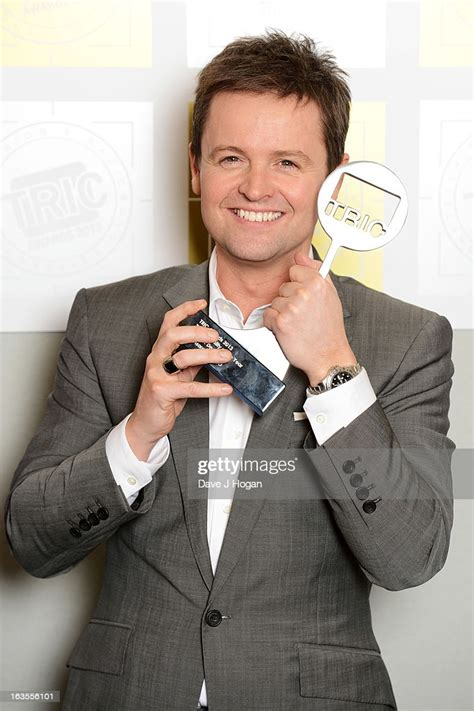 Declan Donnelly poses with his TV Personality Award in ...