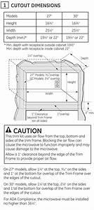 Ge 27 U0026quot  Built-in Microwave Oven Trim Kit