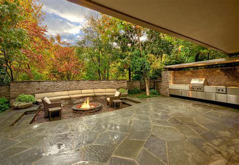 mid century modern residence garden midcentury patio