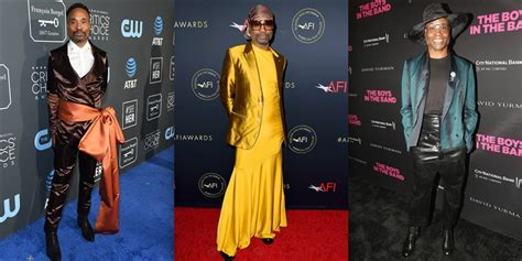 See Billy Porter Oscars Tuxedo Dress More His Red