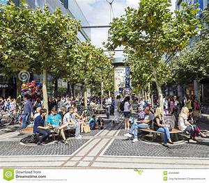 People On The Shopping Street Zeil In Frankfurt Am Main ...