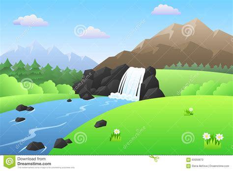 Waterfall Clipart Mountain River