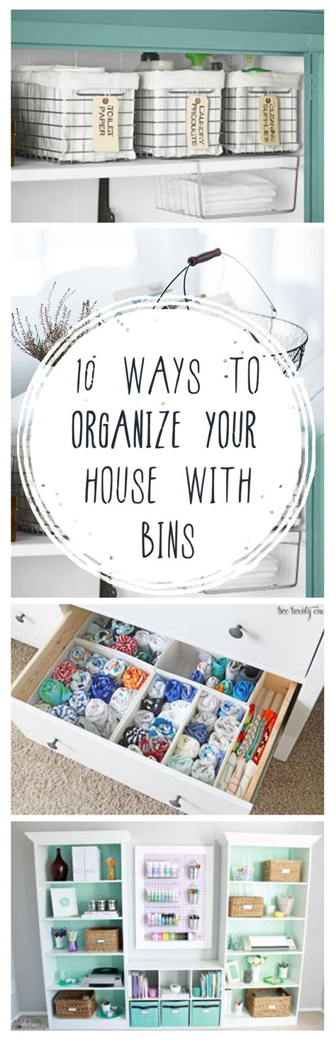 10 Ways To Organize Your House With Bins  Page 2 Of 11