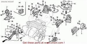 Honda Accord 1992 2dr Lx  Ka Kl  Engine Mount