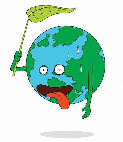 Climate Change Clipart Earth Tired Cartoon Illustration