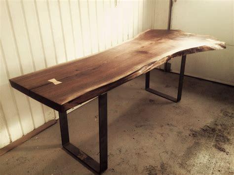 live edge black walnut dining table hand made live edge black walnut dining room table by bois