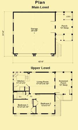 Plans For A Two Bedroom Apartment Above A Two Car Garage