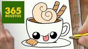 COMO DIBUJAR CAFE KAWAII PASO A PASO Dibujos kawaii faciles How to draw a Coffee, My Crafts and