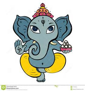 Hindu Elephant God Cartoon