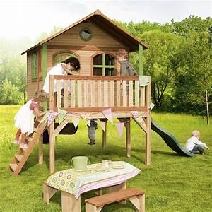 Cabane En Bois Enfant : cabane enfant sophie en c dre vernis naturel jouet axi ~ Dailycaller-alerts.com Idées de Décoration