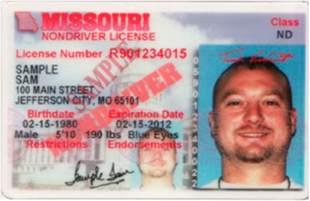 Missouri Non Driver ID Card