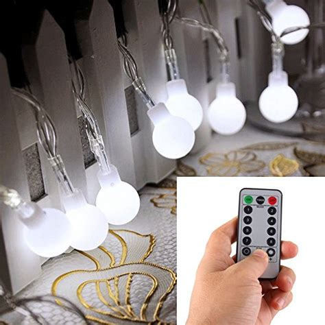 battery operated globe string lights remote timer 16 50 led outdoor globe string
