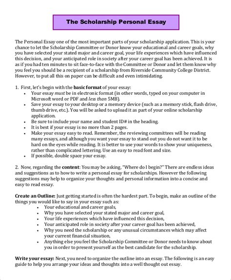 scholarship essay 9 scholarship essay exles sle templates