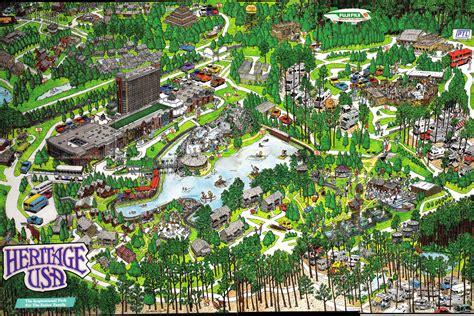 Theme Park Brochures Heritage USA - Theme Park Brochures