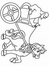 Chariot Coloring Pages Ancient Rome Egypt Elijah Fire Printable Colouring Chariots Roman Clipart Sketch Racer Racing Clip Template Speed Print sketch template
