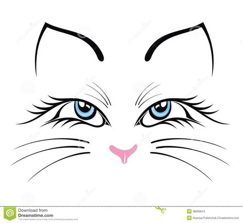 cat face drawing ideas  pinterest cat sketch