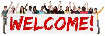 Welcome Banner Sign Holding Ethnic Young Multi