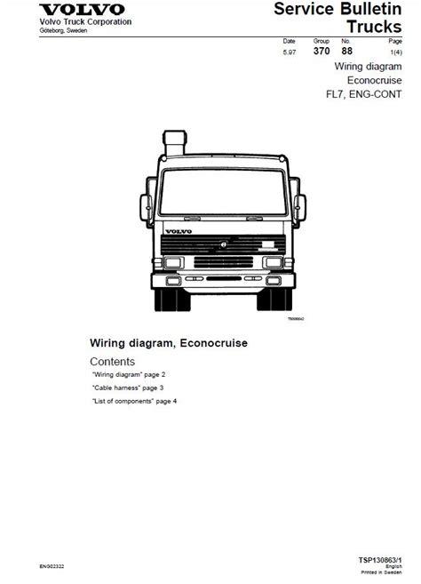 volvo trucks fl fl fl wiring diagram manual