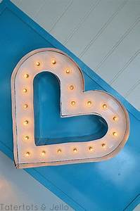 beadboard and metal marquee letter heart tutorial signs With how to make metal marquee letters