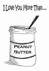 Coloring Butter Peanut Cartoon sketch template