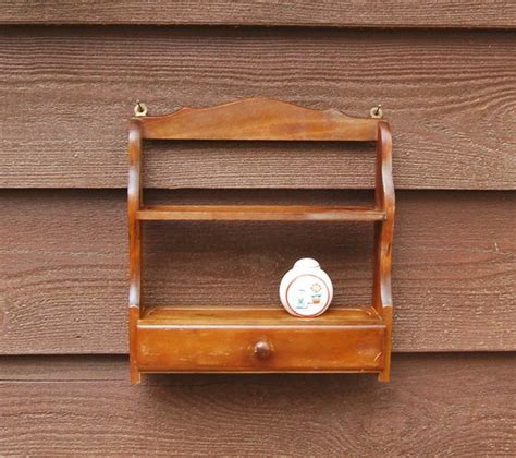 Wood Wall Spice Rack by Wood Spice Rack Wall Rack Vintage Wooden Spice Rack With