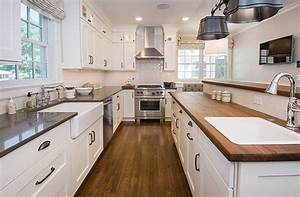 Updated Farmhouse Kitchen Integrates Butler's Pantry and