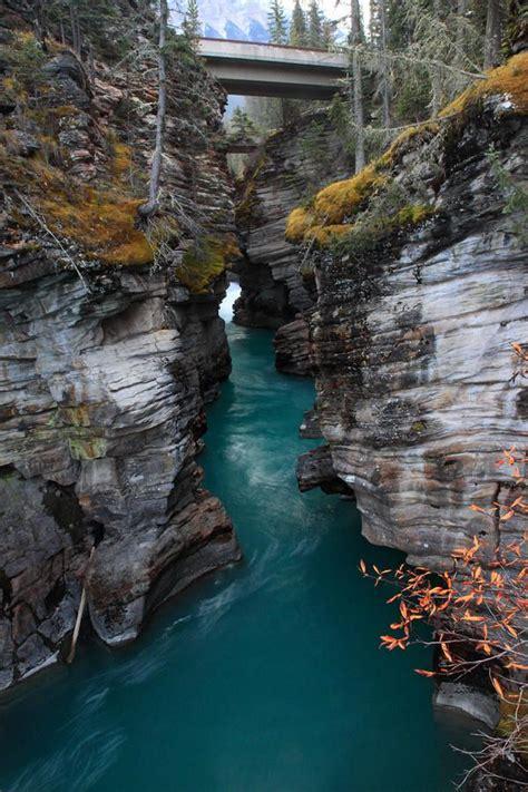 Athabasca Falls In Jasper National Park Alberta Canada