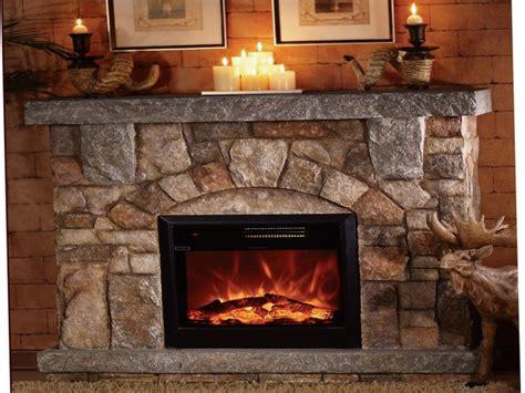 apartmen large stone electric fireplace interior designs